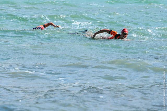 Le vent a compliqué la tâche des swimrunners dans les parties de natation
